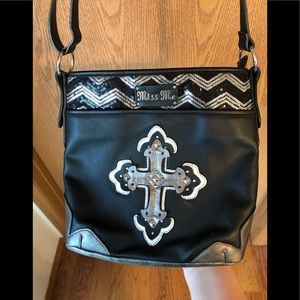 Miss Me Black Cross Body Purse